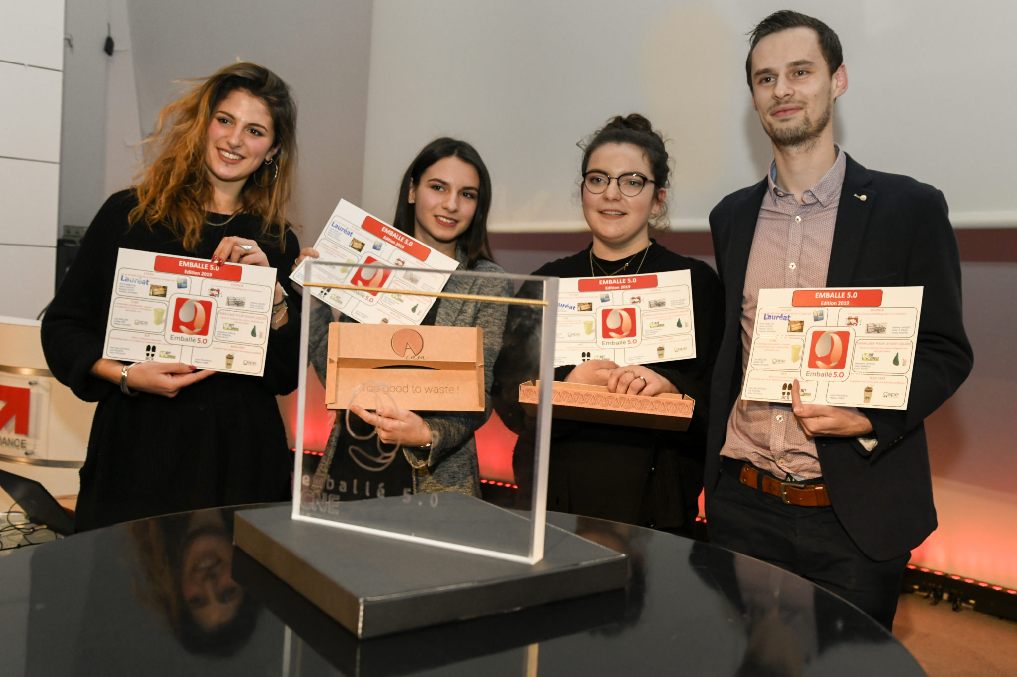 Interview of the laureates of our Emballé 5.0 competition – 2019 Flavia BABILLON, Alexis CAJDLER, Nolwenn GUYOT, Charlène RAYMOND